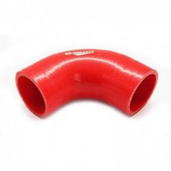 Curva silicona 90º - 63mm Rojo