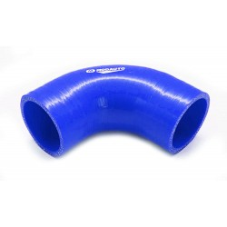 Curva silicona 90º - 63mm azul